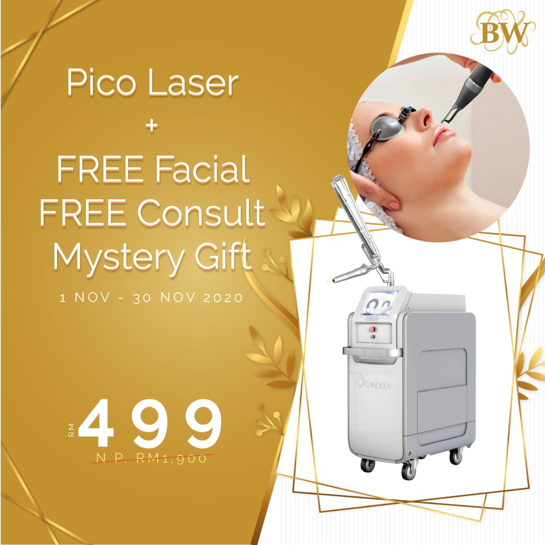 PICO LASER + FREE FACIAL + FREE CONSULT + GIFT RM499!