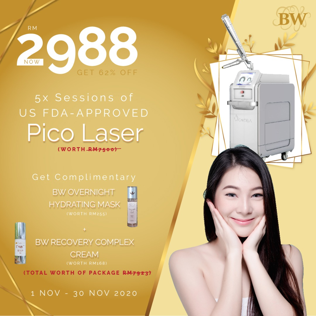 5 SESSIONS PICO LASER PACKAGE RM2988!